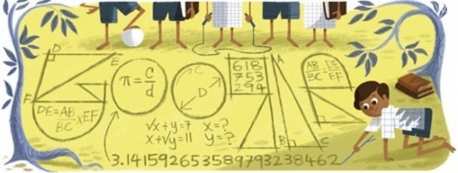 Google Doodle Celebrates Srinivasa Ramanujan's 125th Birthday