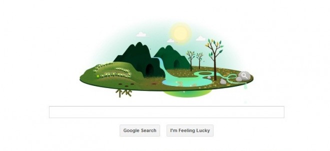 Google Doodle on Earth Day 2013
