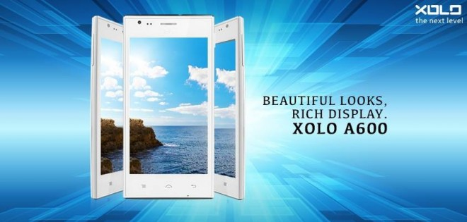 Indian smartphone firm, Xolo has officially launched a budget handset A600 in India.