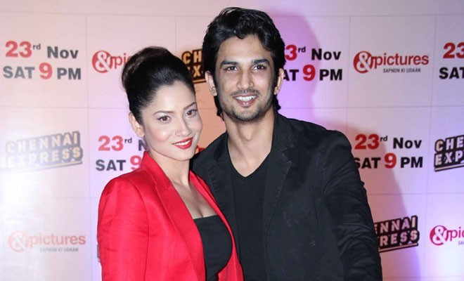 Actor Sushant Singh Rajput with girlfriend Ankita Lokhande