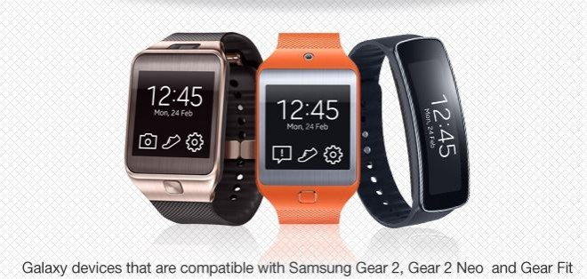 Samsung Gear Wearable Devices now Compatible with 20 Galaxy Smartphones and Tablets