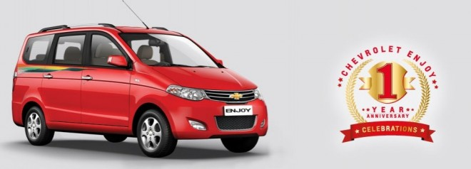 Chevrolet Enjoy Anniversary Edition in India