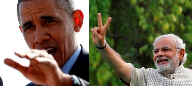 Narendra Modi - Barrack Obama