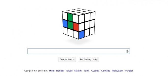 Google's Rubik's Cube Doodle