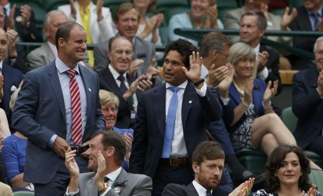 Sachin Tendulkar Andrew Strauss Wimbledon