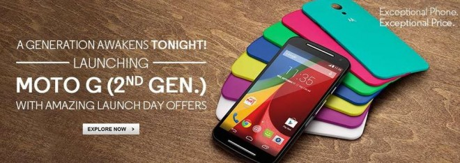 buy popular a6b79 032d6 New Moto G aka G2 Sale at Flipkart on 6 September in India; Price ...
