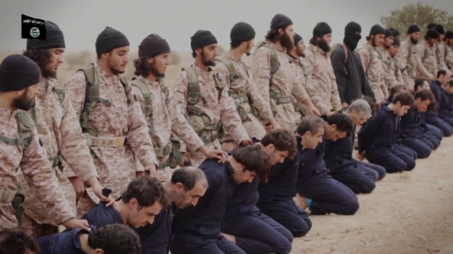 A group of 16 ISIS executioners featured in the Kassig beheading video executing Syrian pilots are all foreign nationals.