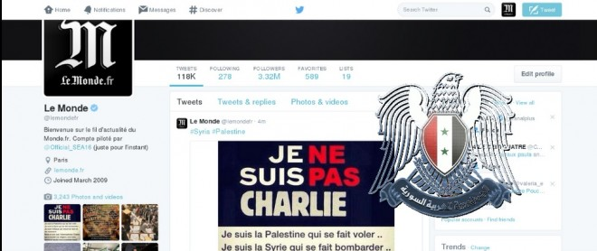 Le Monde Hack Syrian electronic Army