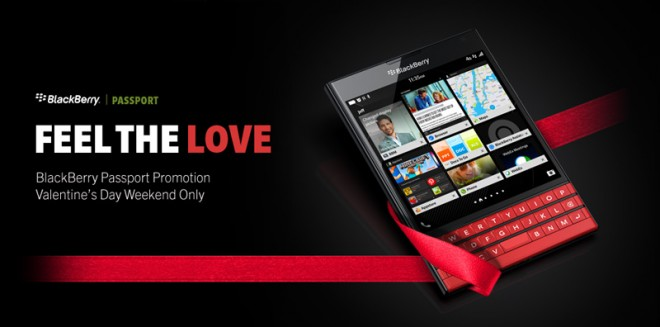 BlackBerry's Valentine's Day Offer: Passport Is $100 Cheaper For A Limited Time