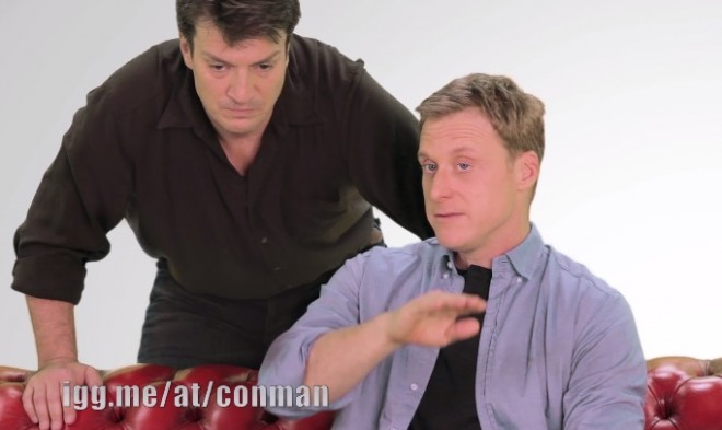 Nathon Fillion and Alan Tudyc of 'Firefly'