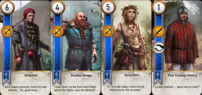 The Witcher 3's Gwent card game