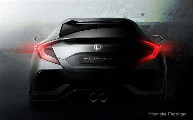 Honda Civic hatchback teaser