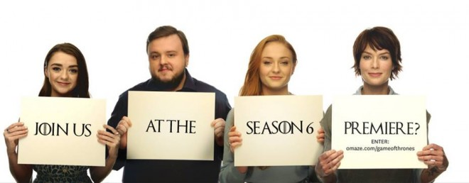 Maisie Williams, John Bradley, Sophie Turner and Lena Heady