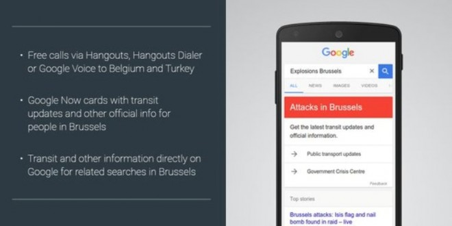 Brussels blasts: Google makes calls via Hangouts to Belgium and Turkey free