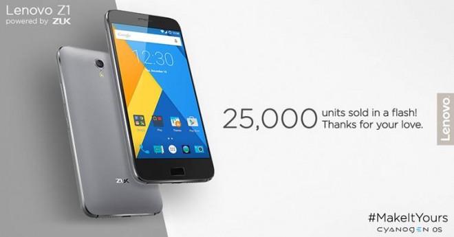 Lenovo ZUK Z1 sold out on day one: 25,000 units, 3 lakh registrations
