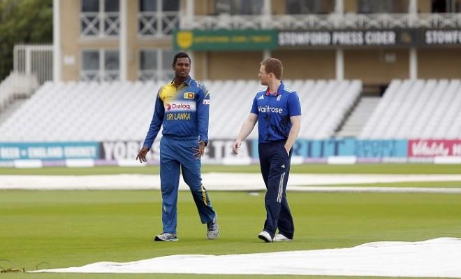 Angelo Mathews Eoin Morgan Sri Lanka England