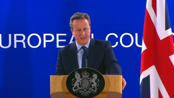 David Cameron addresses news conference after the EU summit in Brussels