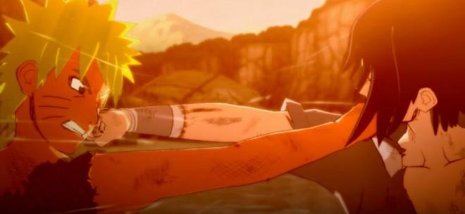 Screeonshot from the final battle between Naruto and Sasuke