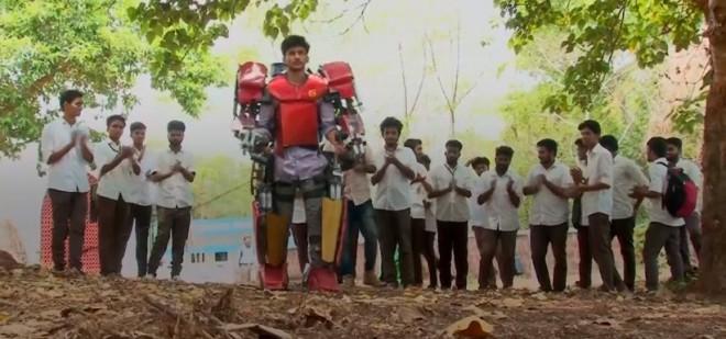 Vimal Govind Manikandan wears the Iron Man suit