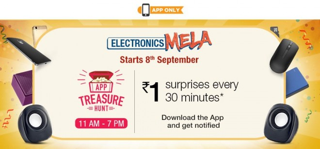 Amazon.in Electronics Mela will be held on Sept 8, 9