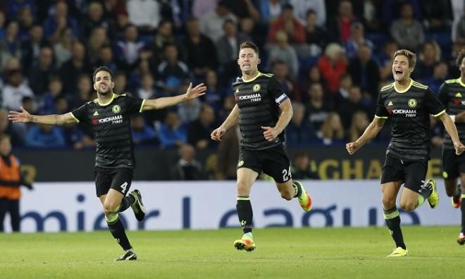 Cesc Fabregas Gary Cahill Marcos Alonso Chelsea