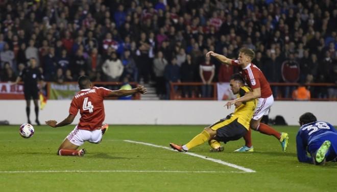 Lucas Perez Arsenal Nottingham Forest