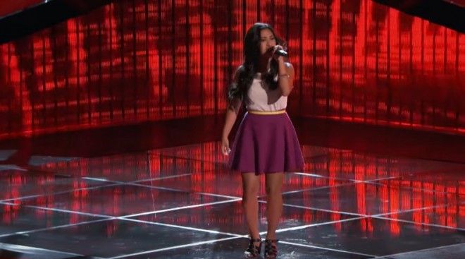 "Anatalia Villaranda performs ""Runaway Baby"" by Bruno Mars on The Voice USA 2017, Season 12."