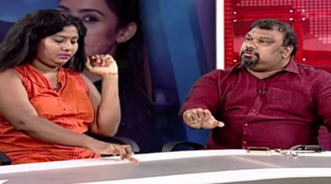 Artiste Sunitha and film critic Mahesh Kathi