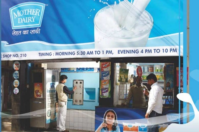 Mother dairy Booth