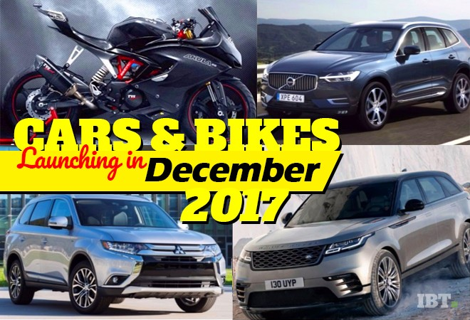 Upcoming cars, bikes in December