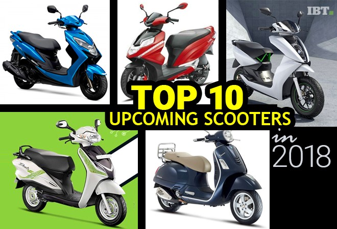 Top 10 upcoming scooters in India in 2018