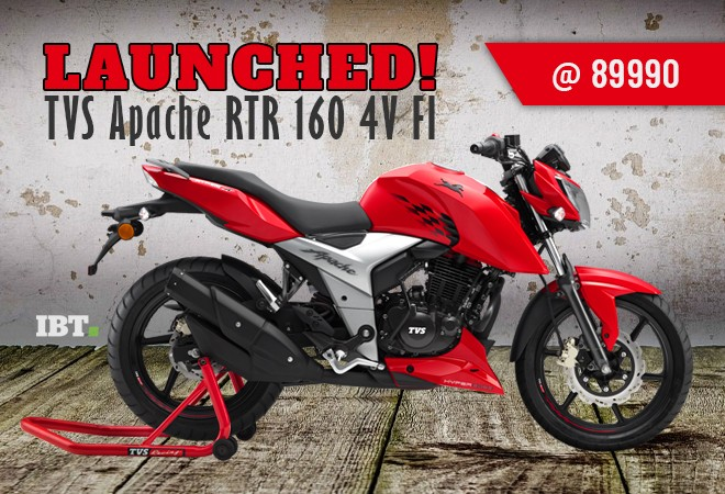 TVS Apache RTR 160 4V launched in India, priced at Rs 81,490