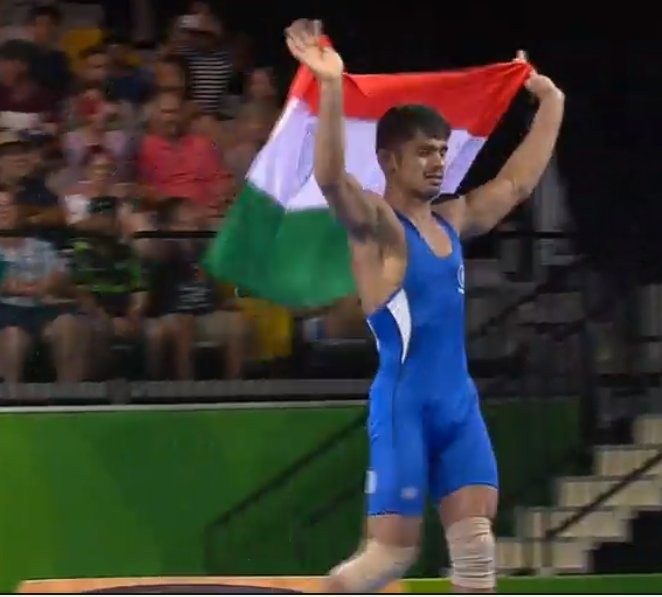 Wrestler Rahul Aware,Rahul Aware,Rahul Aware wins Gold,CWG 2018,Commonwealth Games