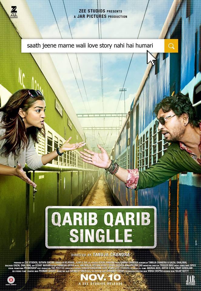 Irrfan Khan,Qarib Qarib Singlle teaser posters,Qarib Qarib Singlle,Qarib Qarib Singlle teaser,Qarib Qarib Singlle movie teaser,Parvathy
