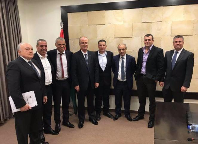 Israeli minister Moshe Kahlon,Moshe Kahlon,Palestinian PM Rami Hamdallah,Rami Hamdallah,Palestinian Prime Minister Rami Hamdallah