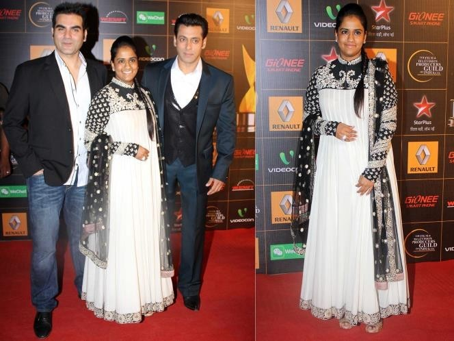 Arpita Khan with Arbaz Khan and Salman Khan