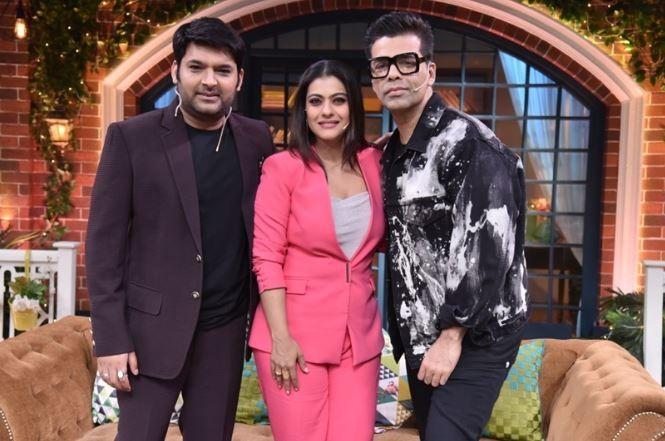 Kajol and Karan Johar with Kapil Sharma