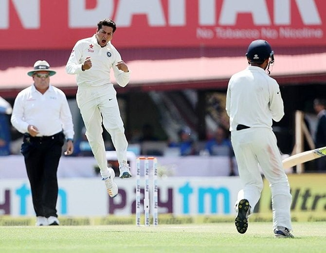 Kuldeep Yadav,kuldeep yadav bowling,Australia to 208/6 at tea,Australia 208/6 at tea,spinner Kuldeep Yadav,Steve Smith',India vs Australia,india vs australia test series 2017,india vs australia test series,India vs Australia 4th Test