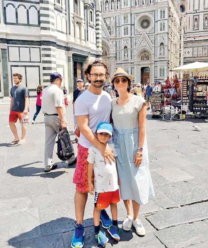 Thugs Of Hindostan,Thugs Of Hindostan actor Aamir Khan,Aamir Khan,Aamir Khan with his family,Aamir Khan on vacation,Aamir Khan at Malta