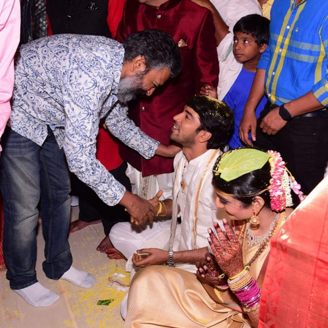 SS Rajamouli at Allari Naresh's Wedding