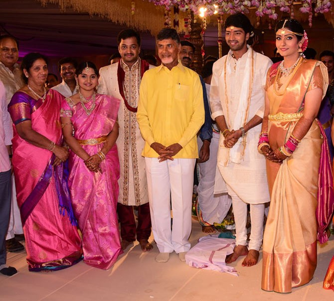 N Chandrababu Naidu at Allari Naresh's Wedding