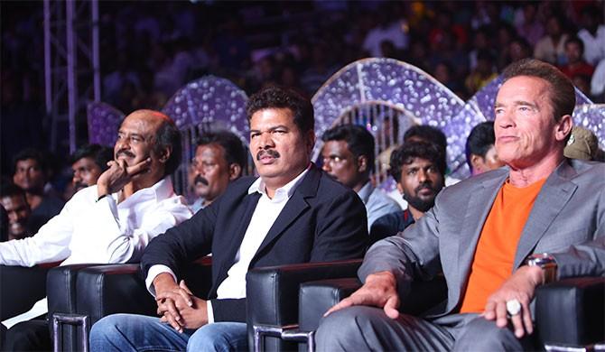 Rajinikanth, Shankar and Arnold