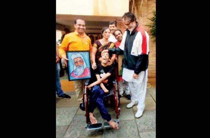 Amitabh Bachchan with Ayush
