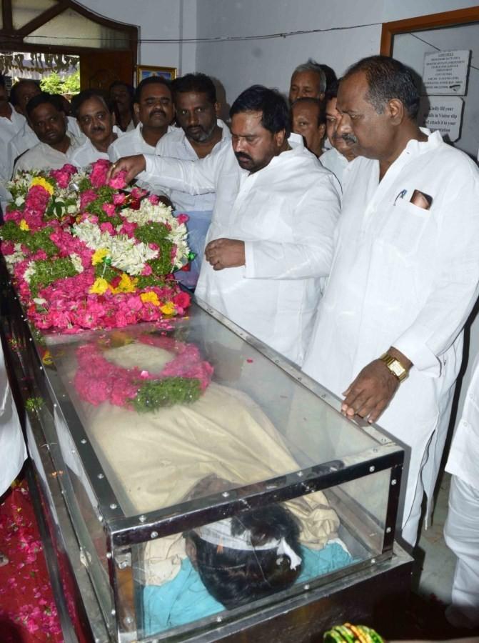 Bandaru Dattatreya,Bandaru Dattatreya son,Srinivas Yadav,Danam Nagender,Naini Narshimha Reddy,Vasantha Dattatreya,Bandaru Dattatreya's son funeral
