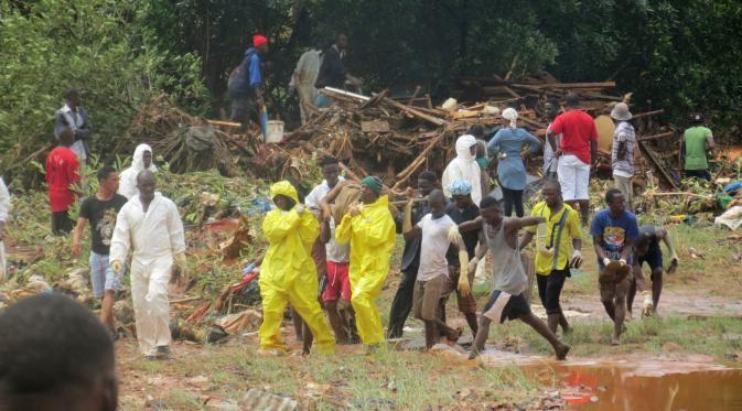 Sierra Leone flooding,Sierra Leone flood,flooding in Sierra Leone,heavy rainfall in Sierra Leone,200 feared dead in Sierra Leone