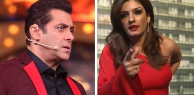 Salman Khan and Raveena Tandon
