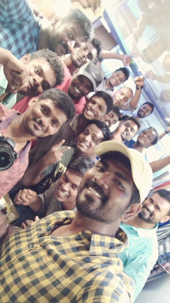 Suriya,Suriya birthday,Suriya birthday celebrations,Keerthy Suresh,Vignesh Shivan,Thaana Serndha Kootam,Suriya and Keerthy Suresh,Thaana Serndha Kootam sets,Thaana Serndha Kootam on the sets