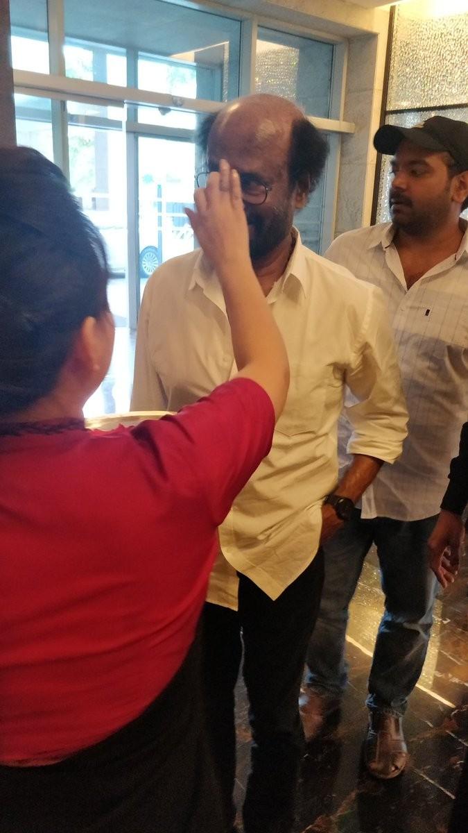 Superstar Rajinikanth,Rajinikanth,Rajinikanth in Hyderabad,Rajinikanth at Hyderabad,Kaala pre-release press meet,Kaala pre-release event,Kaala,Rajinikanth Kaala,Kaala review,Kaala movie review