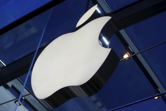 Apple logo is seen inside the Apple Store in Palo Alto