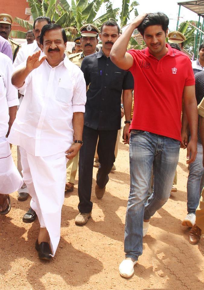 Dulquer salmaan,Ramesh Chennithala,Dulquer Salmaan meets Ramesh Chennithala,dulquer salmaan poojapura central jail